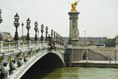 Άποψη ponts Alexandre ΙΙΙ Παρίσι στοκ εικόνα με δικαίωμα ελεύθερης χρήσης