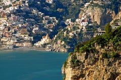 Άποψη Positano από Praiano στοκ φωτογραφίες