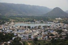 Άποψη Pushkar, Rajasthan, Ινδία Στοκ Φωτογραφία