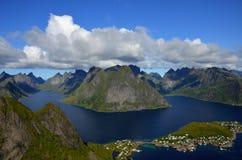 Άποψη Reine Στοκ Εικόνα