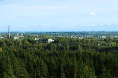 Άποψη Rezekne Στοκ Εικόνες
