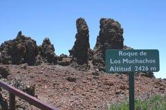 Άποψη Roque de Los Muchachos, Λα Palma, Ισπανία Στοκ Εικόνες