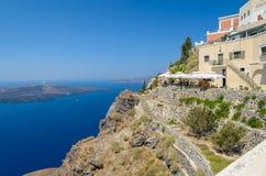 Άποψη Santorini σχετικά με caldera Στοκ Εικόνα
