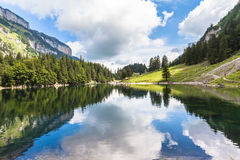 Άποψη Seealpsee (λίμνη) Στοκ φωτογραφίες με δικαίωμα ελεύθερης χρήσης