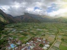 Άποψη Sembalun άνωθεν στοκ φωτογραφία με δικαίωμα ελεύθερης χρήσης