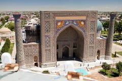 Άποψη sher-Dor Madrasa στοκ εικόνες