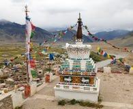 Άποψη Stupa στο μοναστήρι του χωριού Zanskar Padum Στοκ Εικόνα
