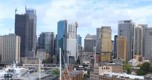 Άποψη Timelapse ορίζοντας του Σίδνεϊ, Αυστραλία πέρα από το λιμάνι 4K φιλμ μικρού μήκους