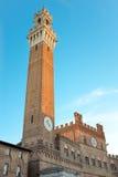 Άποψη Torre del Mangia στη Σιένα Στοκ Φωτογραφία