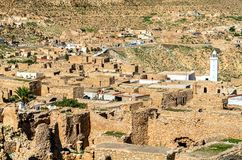 Άποψη Toujane, ένα ορεινό χωριό Berber στη νότια Τυνησία Στοκ Εικόνες