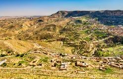 Άποψη Toujane, ένα ορεινό χωριό Berber στη νότια Τυνησία Στοκ Εικόνα