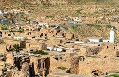Άποψη Toujane, ένα ορεινό χωριό Berber στη νότια Τυνησία Στοκ φωτογραφία με δικαίωμα ελεύθερης χρήσης