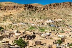 Άποψη Toujane, ένα ορεινό χωριό Berber στη νότια Τυνησία Στοκ φωτογραφίες με δικαίωμα ελεύθερης χρήσης