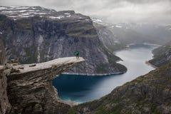 Άποψη Trolltunga Στοκ εικόνες με δικαίωμα ελεύθερης χρήσης