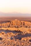 Άποψη Valle de Λα Muerte στοκ φωτογραφία με δικαίωμα ελεύθερης χρήσης