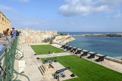 Άποψη Valletta, η πρωτεύουσα της Μάλτας Στοκ Φωτογραφία