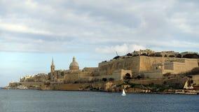 Άποψη Valletta, πρωτεύουσα της Μάλτας Στοκ Εικόνα