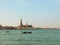 Άποψη Venezia (Βενετία) της βασιλικής de SAN Giorgio Maggiore Στοκ Εικόνες
