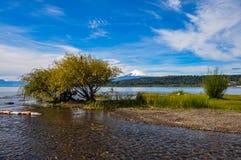 Άποψη Volcan Villarrica από το ίδιο Villarrica, Χιλή Στοκ φωτογραφία με δικαίωμα ελεύθερης χρήσης