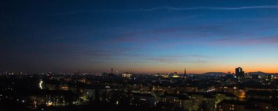 Άποψη Wien από την πανοραμική ρόδα στοκ εικόνα με δικαίωμα ελεύθερης χρήσης