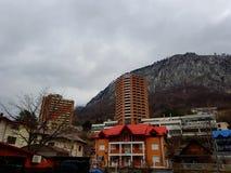 Άποψη Wonderfull του ξενοδοχείου σε Băile Olanesti στοκ εικόνες