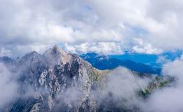 Άποψη Zugspitze πανοράματος Άλπεων στοκ εικόνα