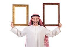 Άραβας με το πλαίσιο εικόνων Στοκ εικόνες με δικαίωμα ελεύθερης χρήσης