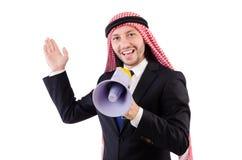 Άραβας που φωνάζει με το μεγάφωνο Στοκ εικόνα με δικαίωμα ελεύθερης χρήσης
