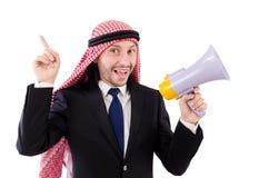 Άραβας που φωνάζει με το μεγάφωνο Στοκ φωτογραφία με δικαίωμα ελεύθερης χρήσης