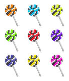 Άργιλος αποκριές κινούμενων σχεδίων lollipops Στοκ Φωτογραφία