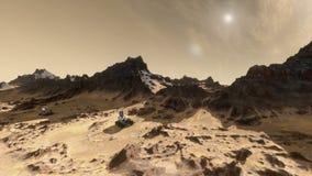 Άρης που καθιερώνει τον πυροβολισμό με τους πλάνες διανυσματική απεικόνιση