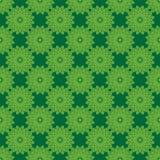 Άριστο αφηρημένο πράσινο σχέδιο λουλουδιών Στοκ Εικόνα