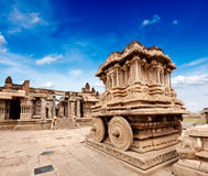 Άρμα πετρών στο ναό Vittala. Hampi, Ινδία στοκ φωτογραφία με δικαίωμα ελεύθερης χρήσης