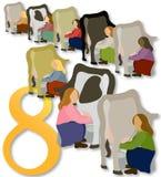 άρμεγμα 8 12 κοριτσιών ημερών τ&o ελεύθερη απεικόνιση δικαιώματος