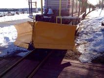 Άροτρο σε ένα τραίνο Στοκ Εικόνες