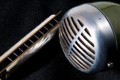 άρπα mic μπλε Στοκ Φωτογραφίες