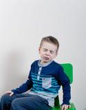 άρρωστοι αγοριών Στοκ φωτογραφία με δικαίωμα ελεύθερης χρήσης