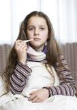 άρρωστοι κοριτσιών Στοκ εικόνες με δικαίωμα ελεύθερης χρήσης