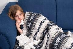 άρρωστοι κοριτσιών Στοκ Εικόνες