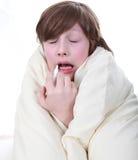 άρρωστοι παιδιών αγοριών Στοκ Φωτογραφία