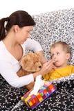 άρρωστοι παιδιών Στοκ Εικόνες