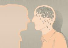 Άρρωστοι της απεικόνισης του Alzheimer και της απώλειας μνήμης Στοκ Φωτογραφία
