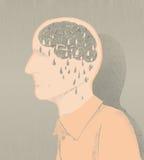 Άρρωστοι της απεικόνισης του Alzheimer και της απώλειας μνήμης Στοκ Φωτογραφίες