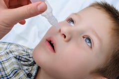 Άρρωστο αγόρι Στοκ φωτογραφία με δικαίωμα ελεύθερης χρήσης