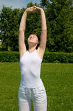 άσκηση αναπνευστική Στοκ Εικόνες