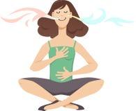 Άσκηση αναπνοής διανυσματική απεικόνιση