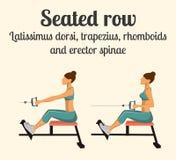 Άσκηση γυμναστικής: Καθισμένος υπόλοιπος κόσμος επίσης corel σύρετε το διάνυσμα απεικόνισης διανυσματική απεικόνιση