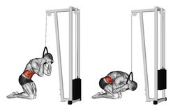 άσκηση Κατσαρώνοντας σώμα μέσω του προσομοιωτή φραγμών ελεύθερη απεικόνιση δικαιώματος
