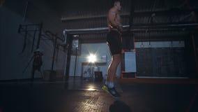 Άσκηση σχοινιών άλματος απόθεμα βίντεο