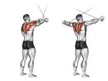 άσκηση Τα διαγώνια χέρια πριν από τους ανώτερους φραγμούς απεικόνιση αποθεμάτων